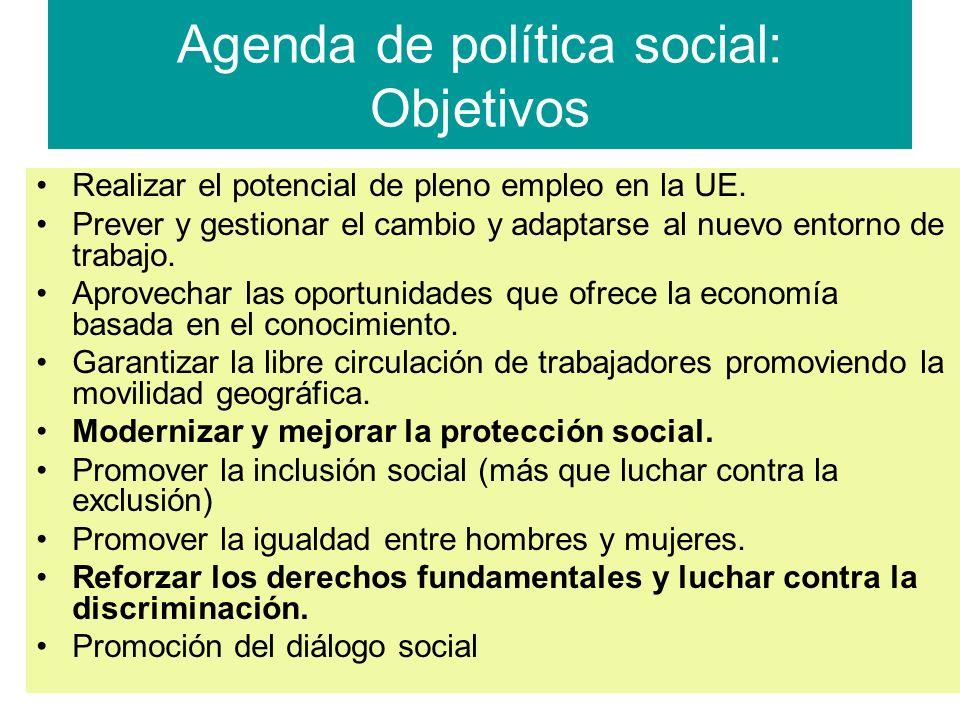 Agenda de política social: Objetivos