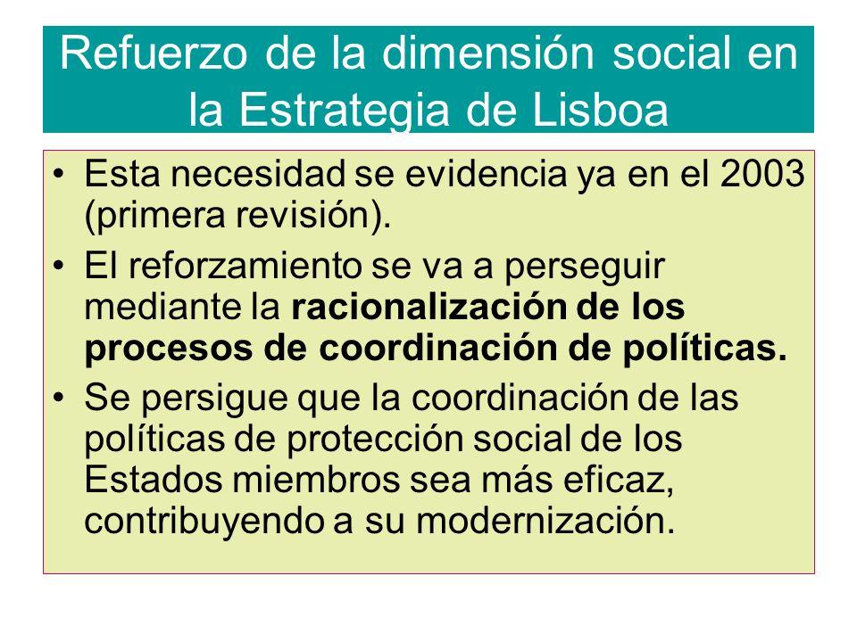 Refuerzo de la dimensión social en la Estrategia de Lisboa