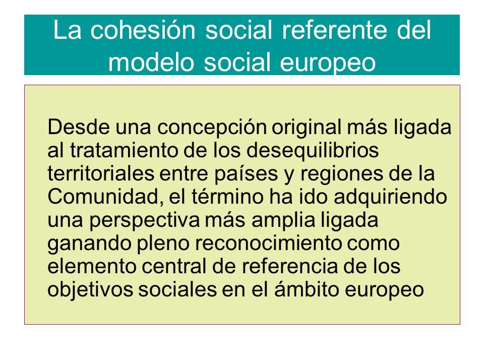 La cohesión social referente del modelo social europeo