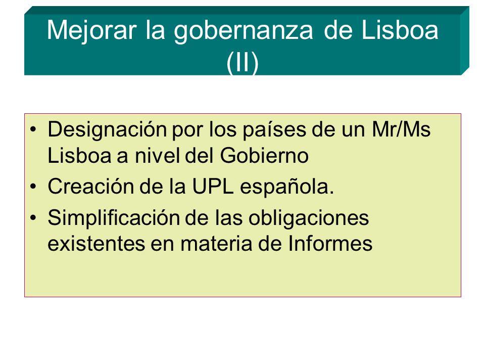 Mejorar la gobernanza de Lisboa (II)