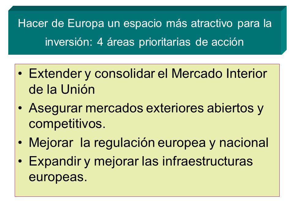 Extender y consolidar el Mercado Interior de la Unión