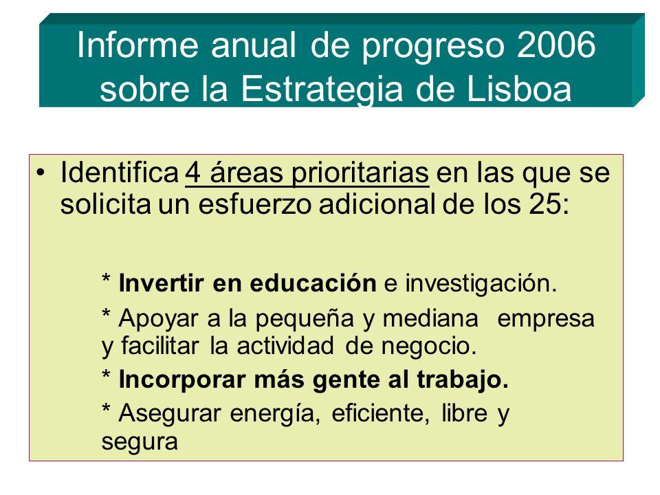 Informe anual de progreso 2006 sobre la Estrategia de Lisboa