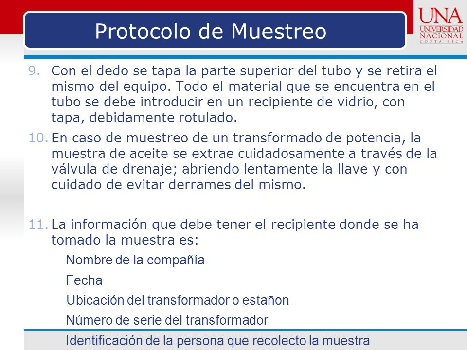 Protocolo de Muestreo