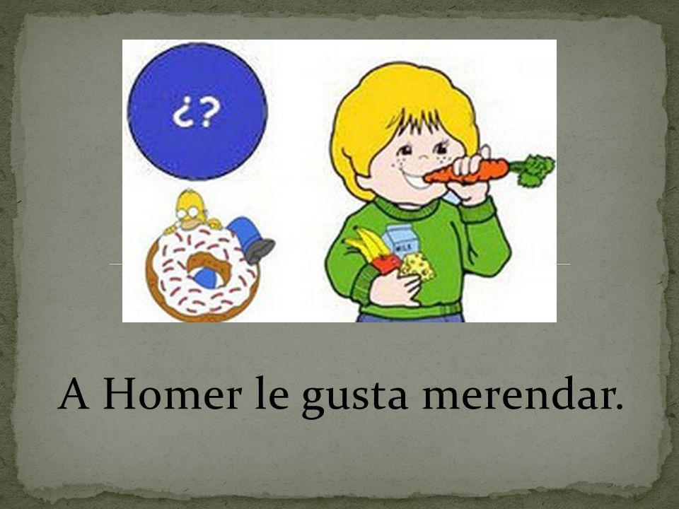 A Homer le gusta merendar.