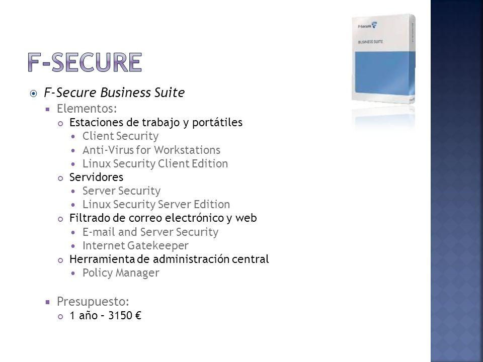F-Secure F-Secure Business Suite Presupuesto: Elementos: