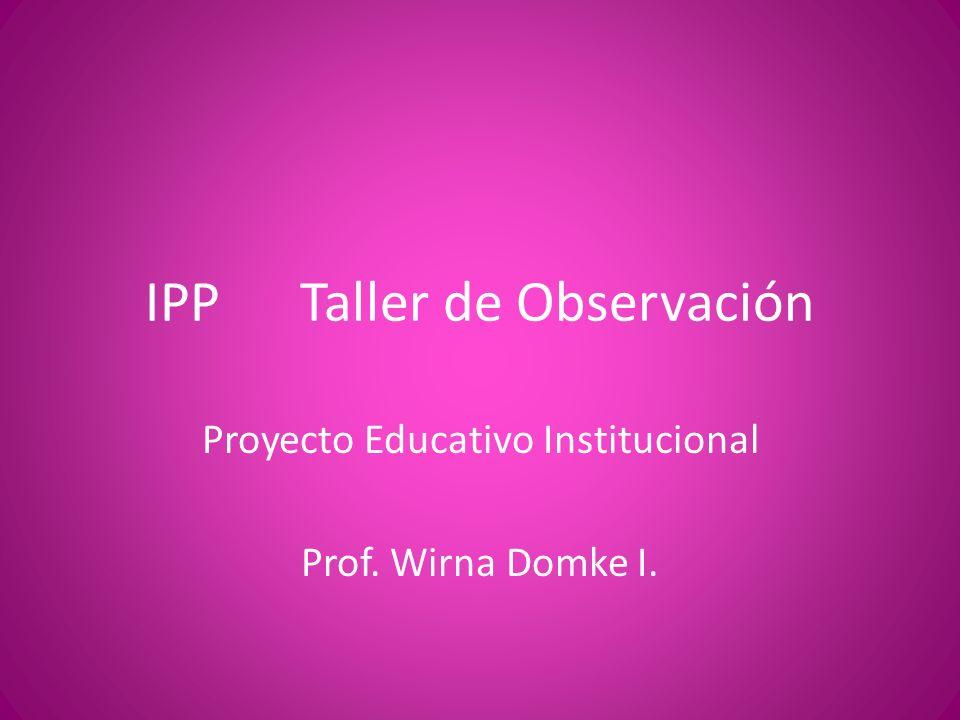 IPP Taller de Observación
