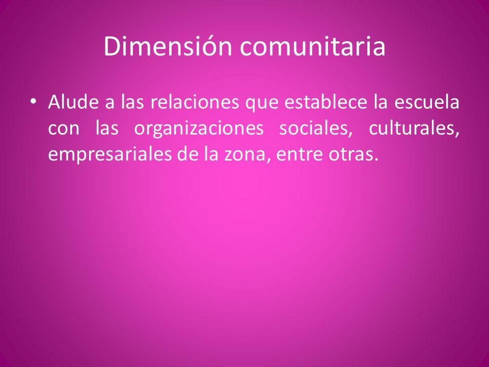 Dimensión comunitaria