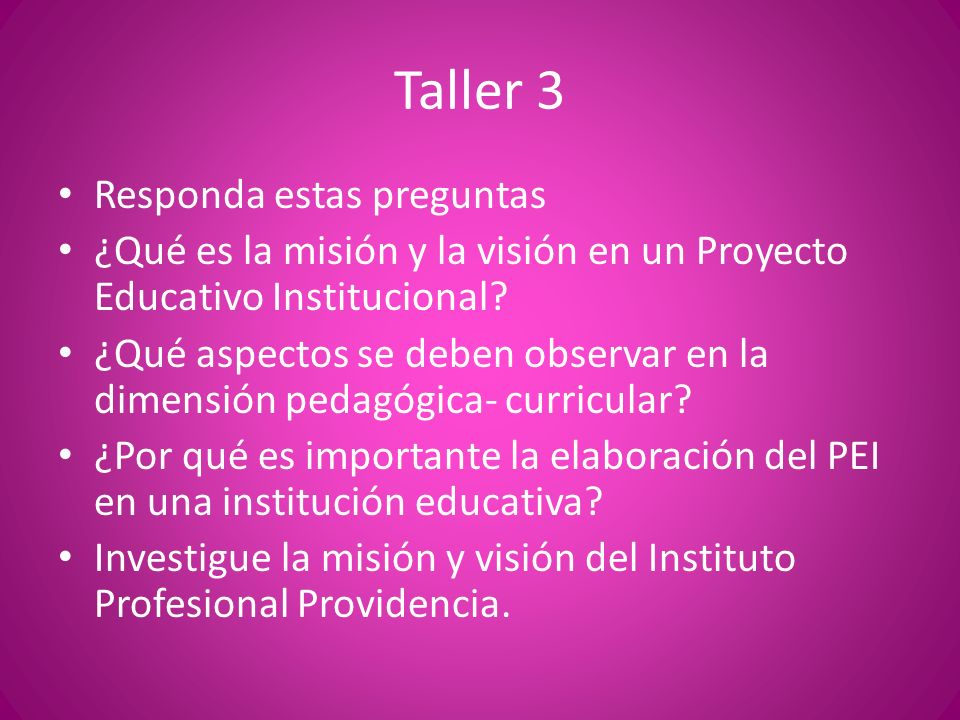 Taller 3 Responda estas preguntas