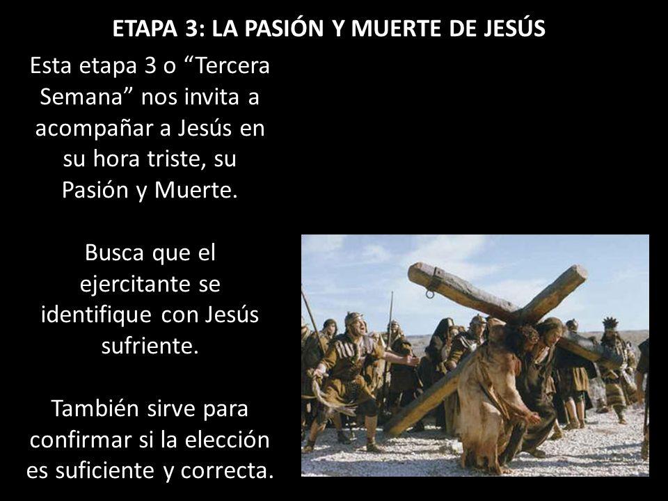 ETAPA 3: LA PASIÓN Y MUERTE DE JESÚS