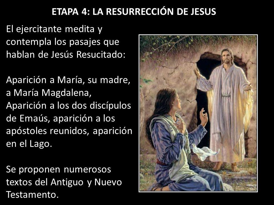 ETAPA 4: LA RESURRECCIÓN DE JESUS