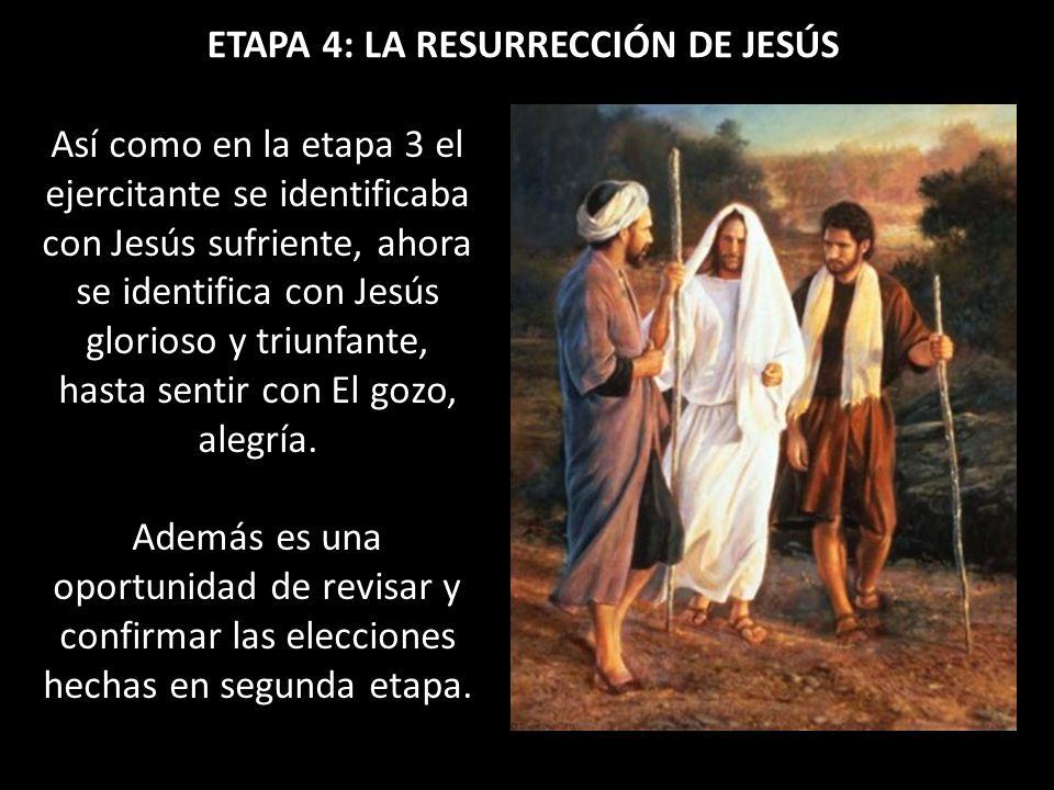ETAPA 4: LA RESURRECCIÓN DE JESÚS