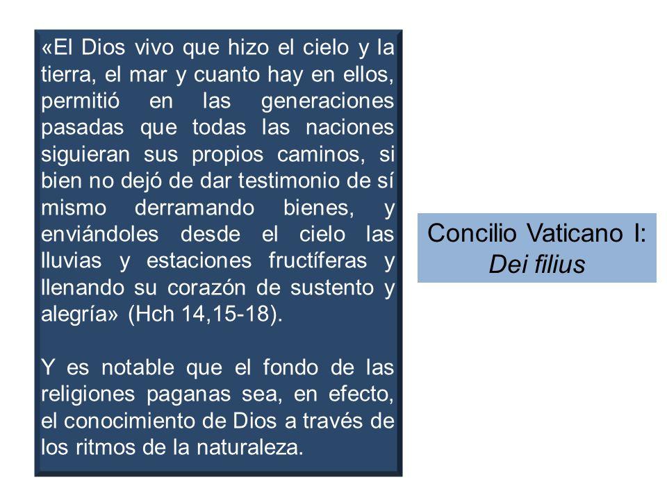 Concilio Vaticano I: Dei filius