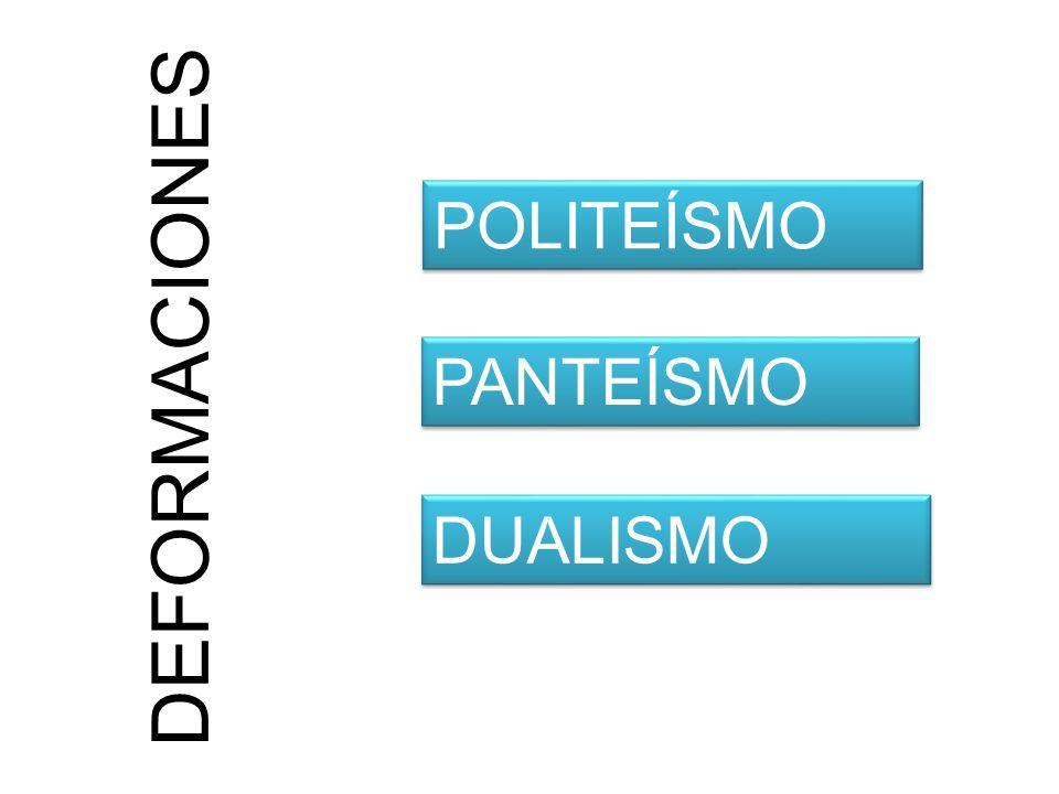 POLITEÍSMO DEFORMACIONES PANTEÍSMO DUALISMO