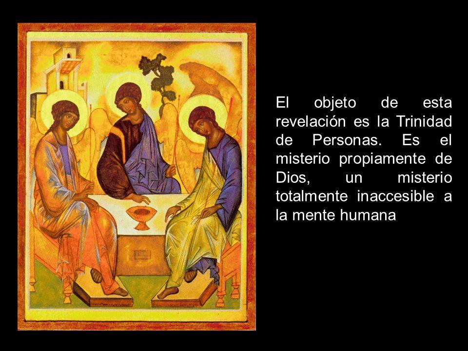 El objeto de esta revelación es la Trinidad de Personas