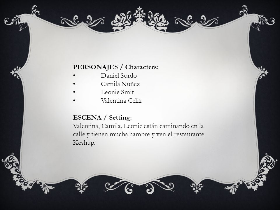 PERSONAJES / Characters: