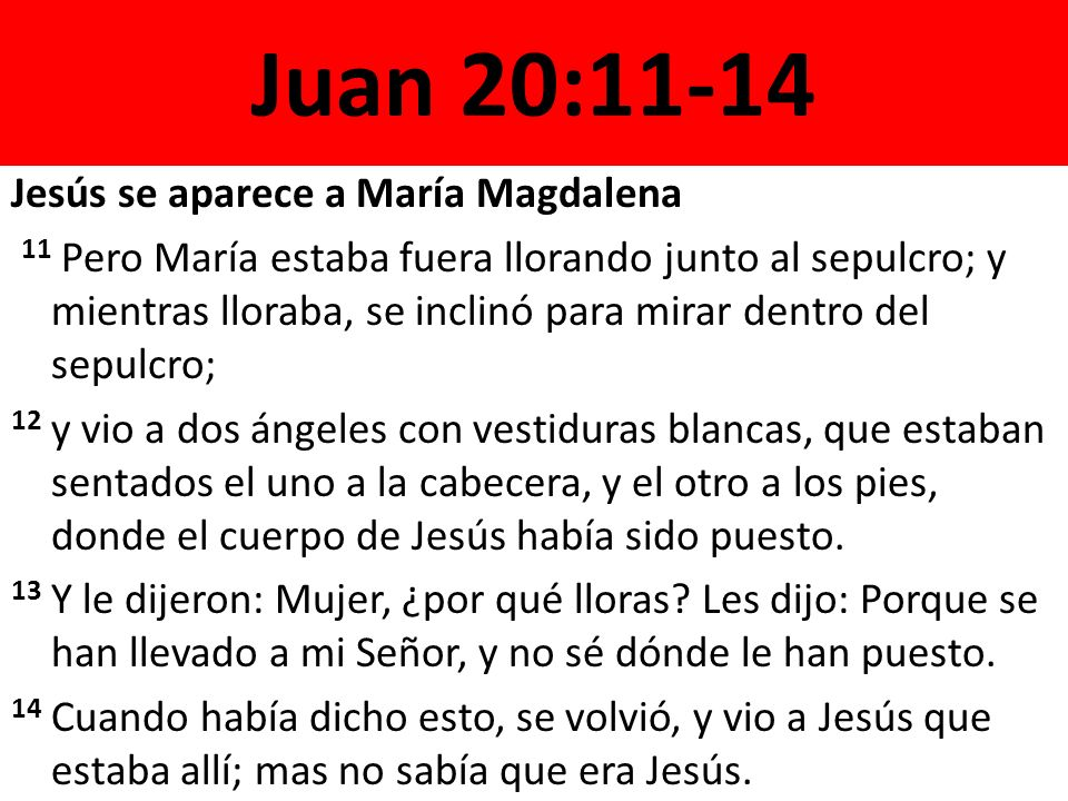 Juan 20:11-14