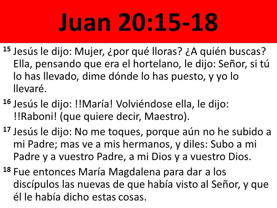 Juan 20:15-18