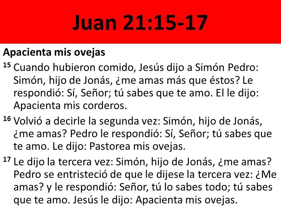 Juan 21:15-17 Apacienta mis ovejas