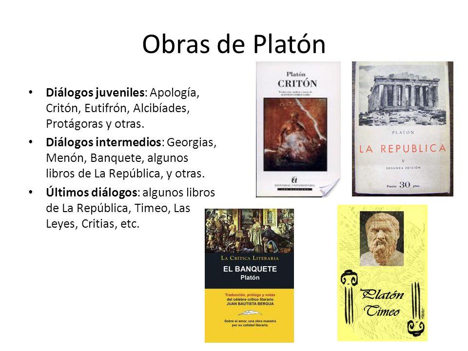 Obras de Platón Diálogos juveniles: Apología, Critón, Eutifrón, Alcibíades, Protágoras y otras.