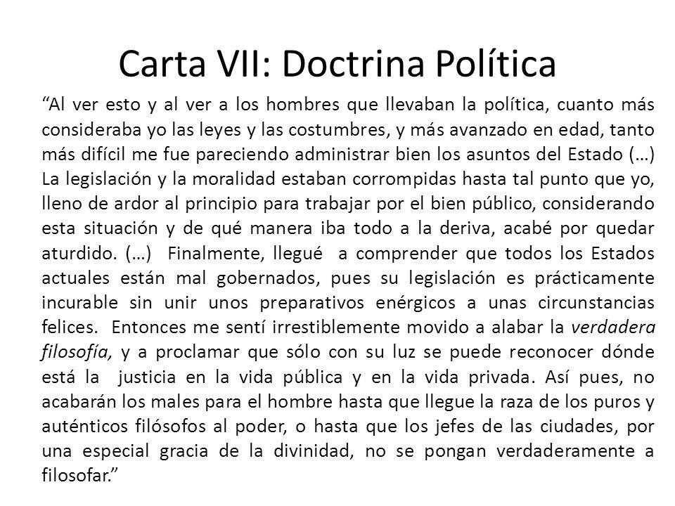 Carta VII: Doctrina Política