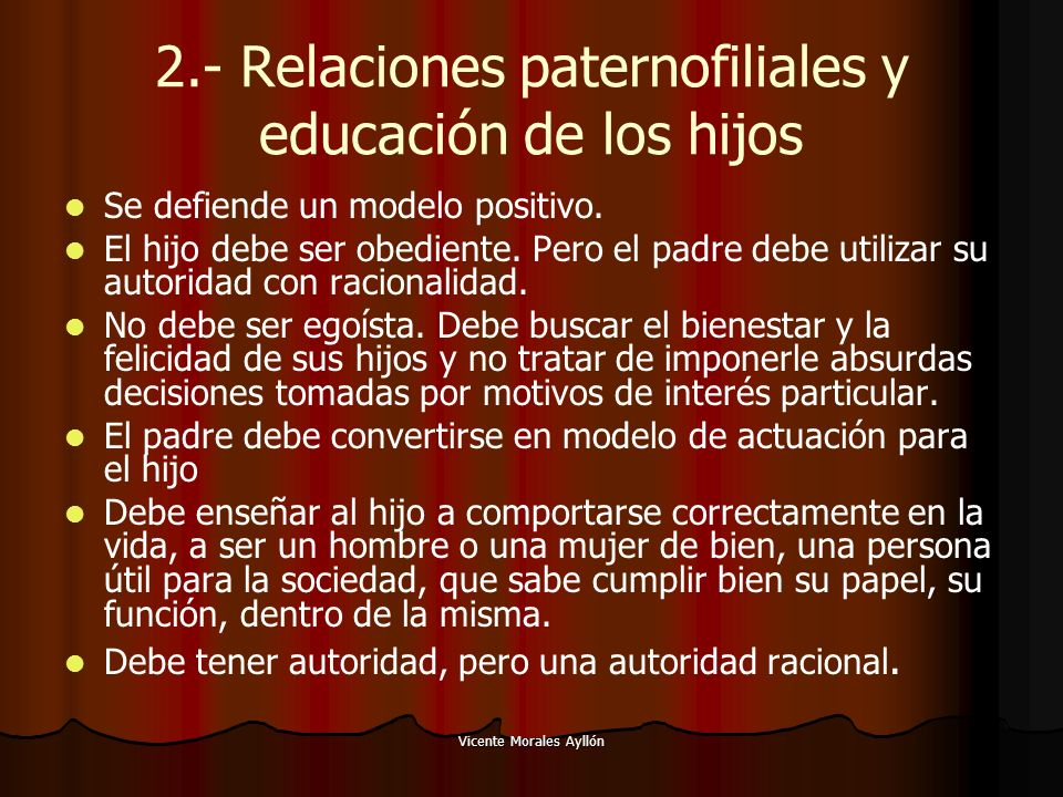 2.- Relaciones paternofiliales y educación de los hijos