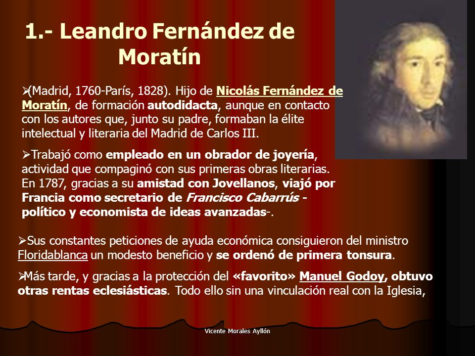 1.- Leandro Fernández de Moratín