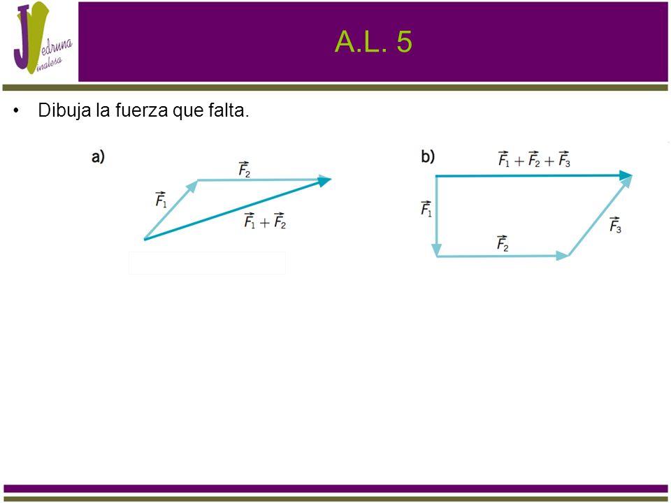 A.L. 5 Dibuja la fuerza que falta.