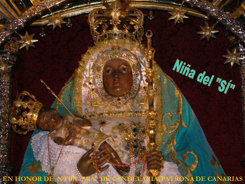 Niña del SÍ EN HONOR DE NTRA. SRA. DE CANDELARIA, PATRONA DE CANARIAS