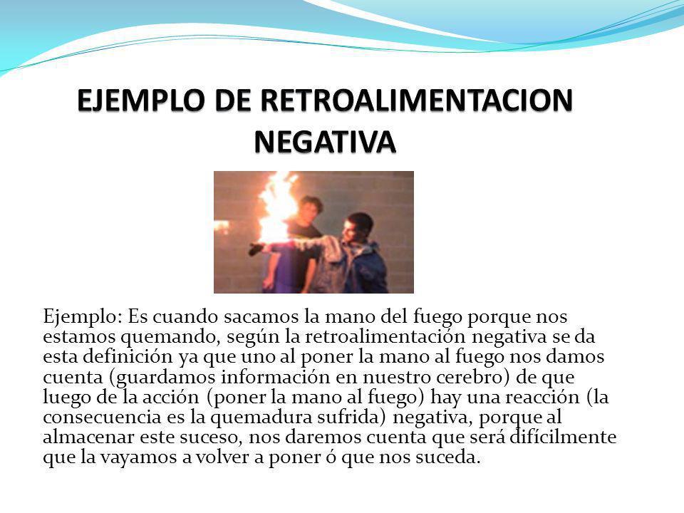 EJEMPLO DE RETROALIMENTACION NEGATIVA
