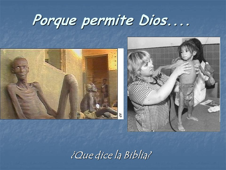 Porque permite Dios.... ¿Que dice la Biblia