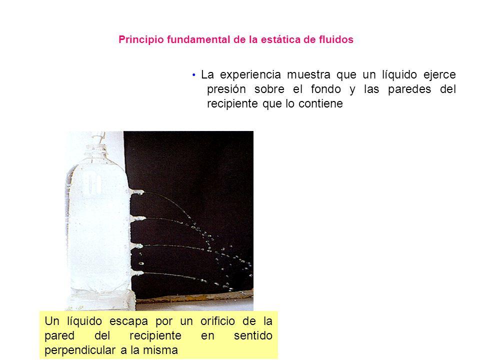 Principio fundamental de la estática de fluidos