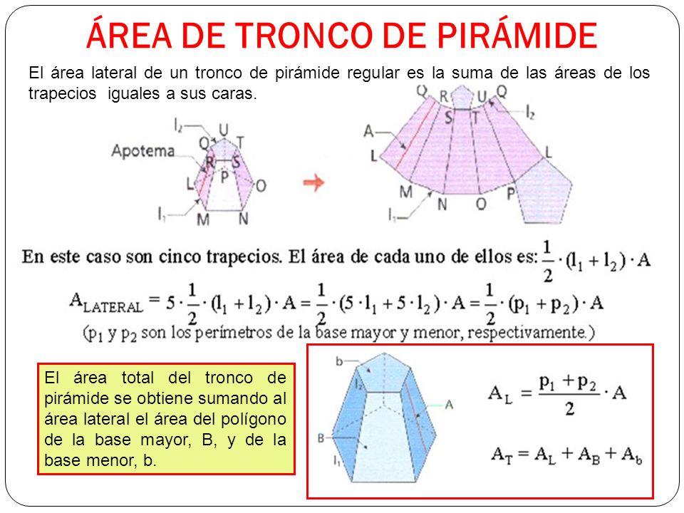 ÁREA DE TRONCO DE PIRÁMIDE