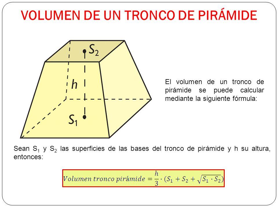 VOLUMEN DE UN TRONCO DE PIRÁMIDE