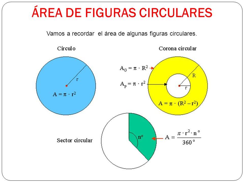 ÁREA DE FIGURAS CIRCULARES