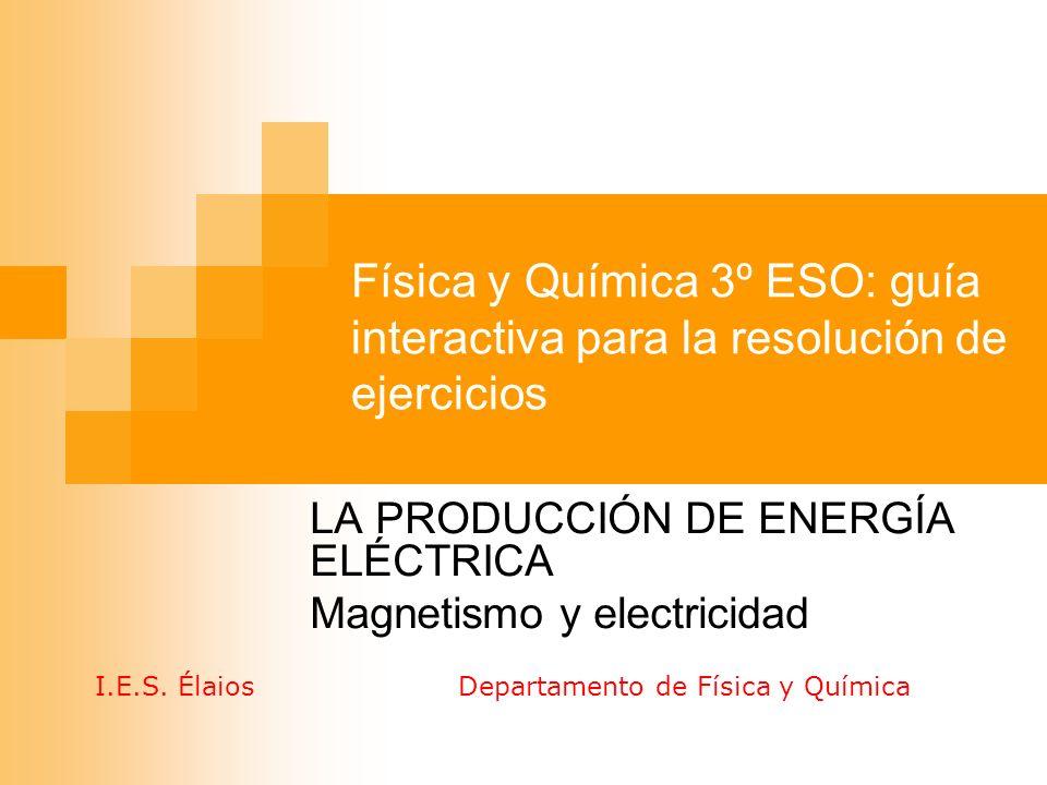 LA PRODUCCIÓN DE ENERGÍA ELÉCTRICA Magnetismo y electricidad