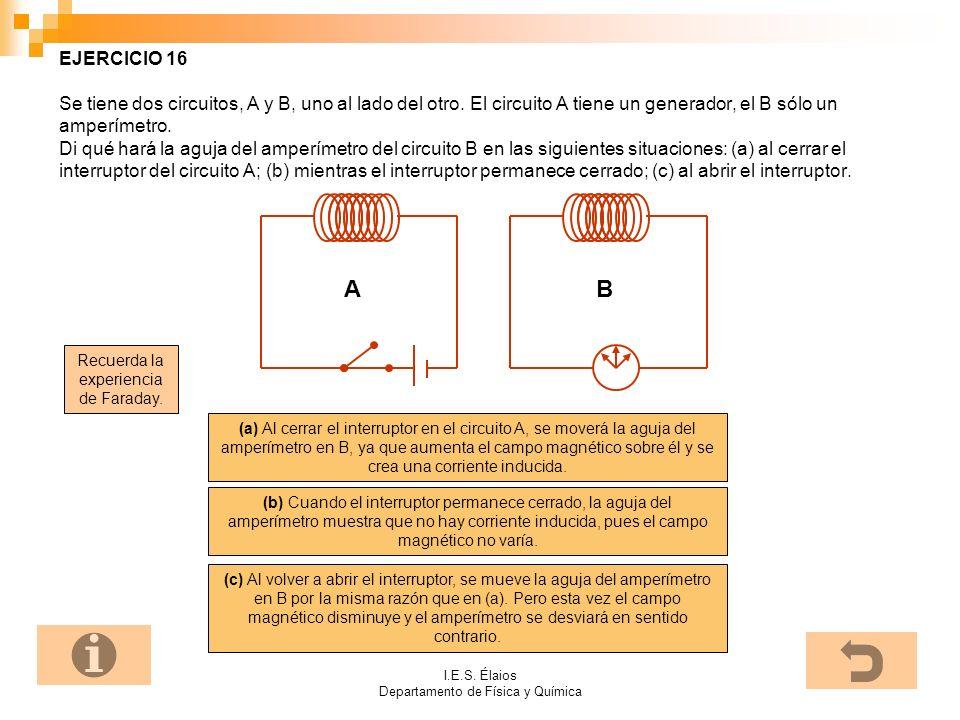 EJERCICIO 16 Se tiene dos circuitos, A y B, uno al lado del otro