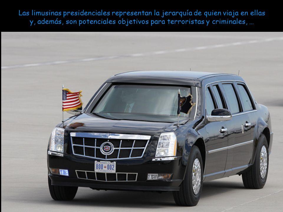 Las limusinas presidenciales representan la jerarquía de quien viaja en ellas y, además, son potenciales objetivos para terroristas y criminales, …