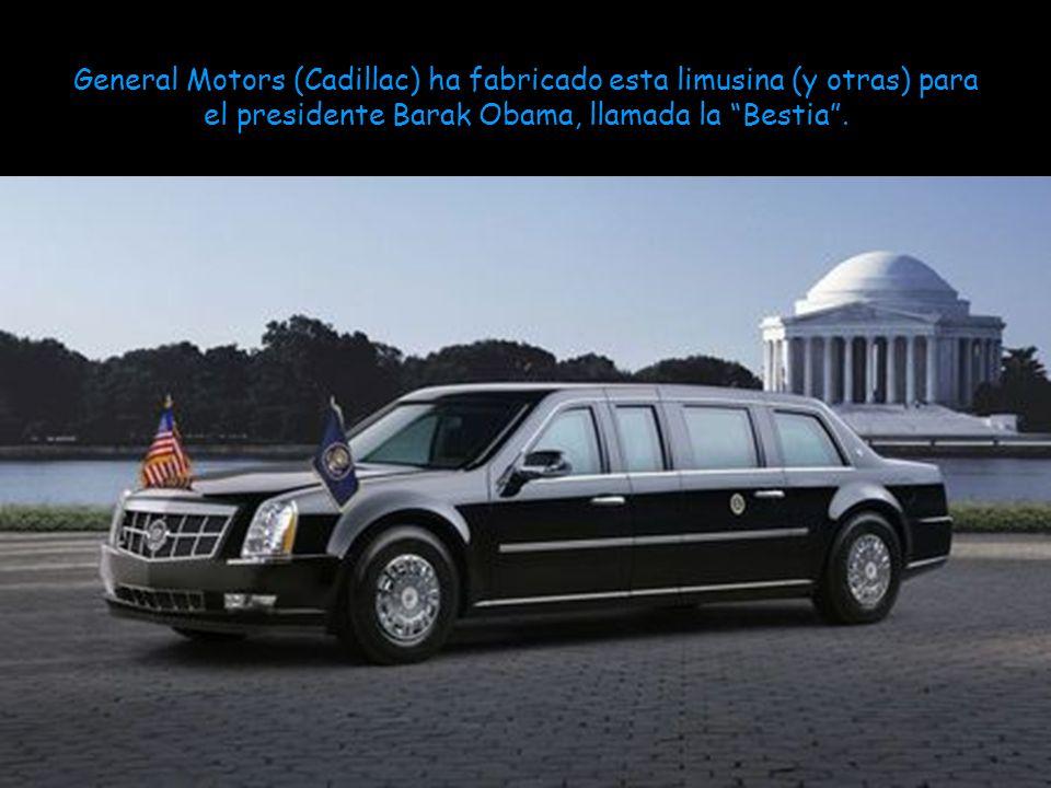 General Motors (Cadillac) ha fabricado esta limusina (y otras) para el presidente Barak Obama, llamada la Bestia .