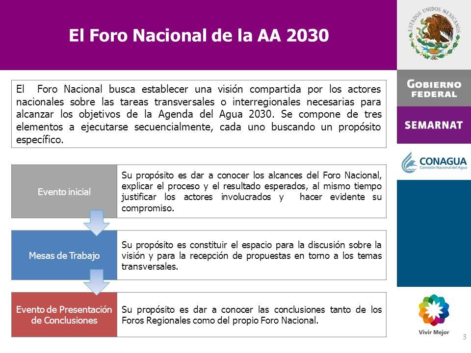 El Foro Nacional de la AA 2030