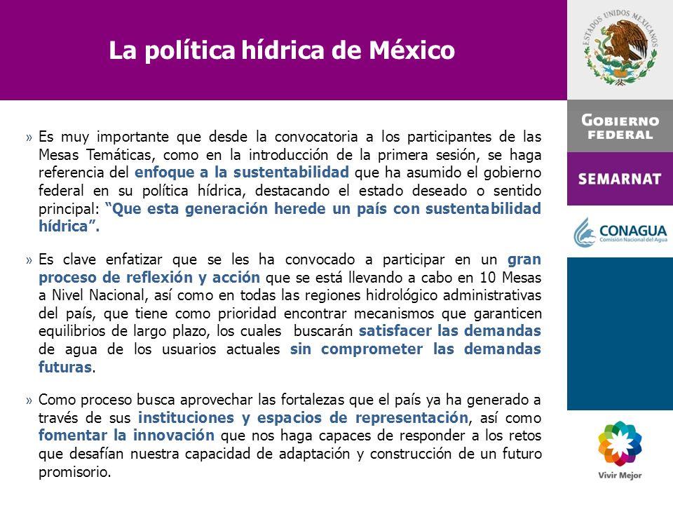 La política hídrica de México