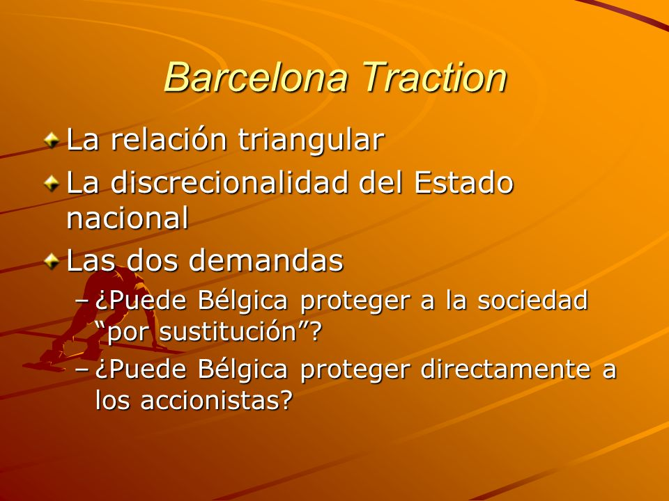 Barcelona Traction La relación triangular