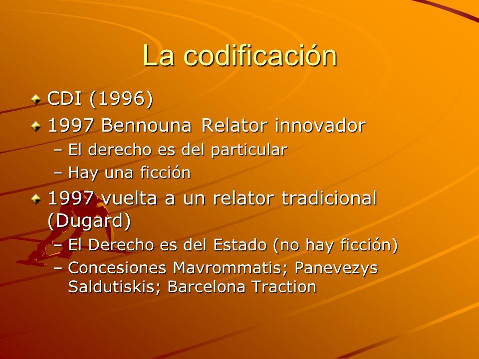 La codificación CDI (1996) 1997 Bennouna Relator innovador