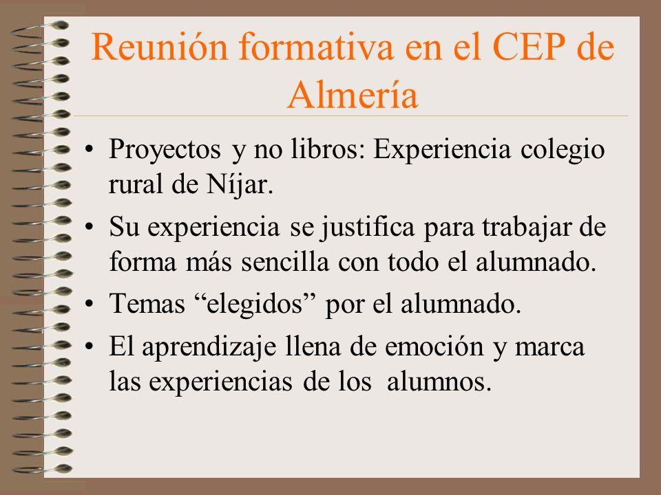 Reunión formativa en el CEP de Almería