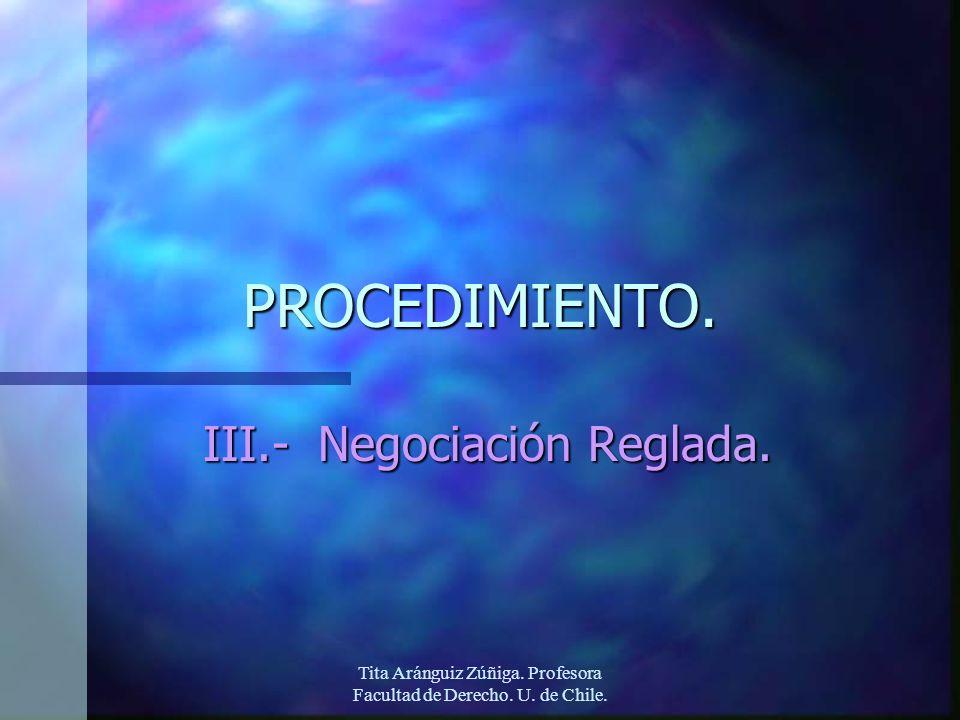 III.- Negociación Reglada.