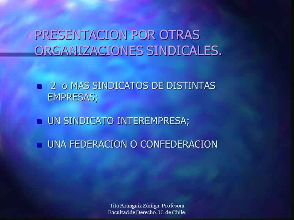PRESENTACION POR OTRAS ORGANIZACIONES SINDICALES.