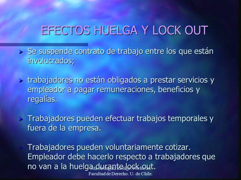 EFECTOS HUELGA Y LOCK OUT