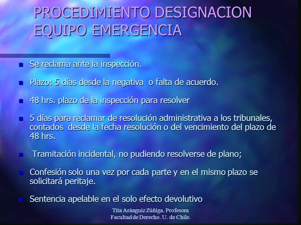 PROCEDIMIENTO DESIGNACION EQUIPO EMERGENCIA