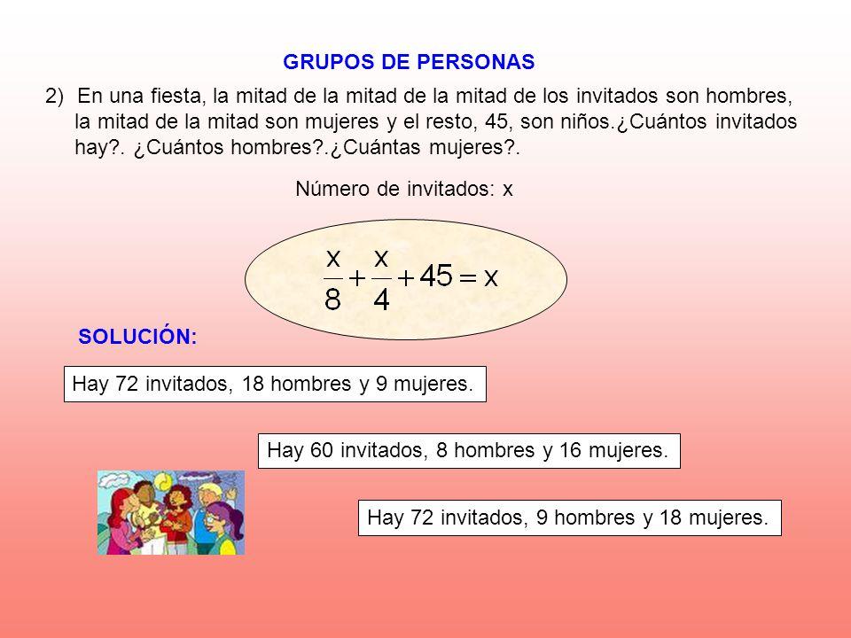 GRUPOS DE PERSONAS SOLUCIÓN: