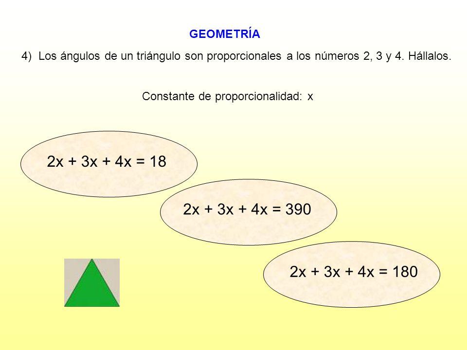 Constante de proporcionalidad: x