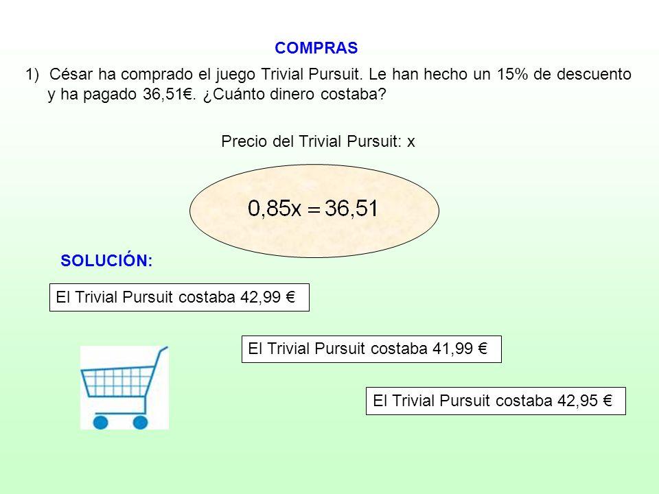 Precio del Trivial Pursuit: x